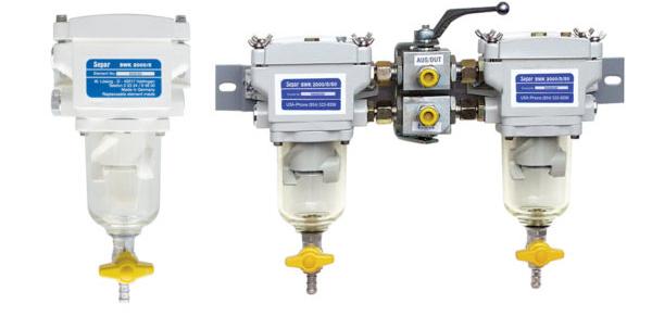 Trois installations de filtres Separ 2000/5.