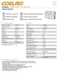 Information sur le groupe électrogène Coelmo 13,3 kVa