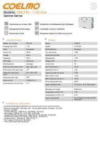 Information sur le groupe électrogène Coelmo 7,4 kVa