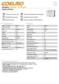 Information sur le groupe électrogène Coelmo 9 kVa